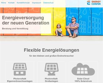 Photovoltaik – Eigenverbrauchsanlagen, Solarwärmeanlagen, Wärmepumpen, Blockheizkraftwerk, Smart Home, Das Auto der Zukunft, Photovoltaik – Großanlagen, ENERGY CONFER KG