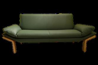 grünes Leder Sofa