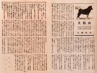 昭和11年「昭和日本犬の検討」(犬の研究社)刊