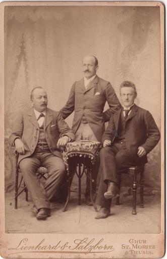 Ils frars Bardola: Cristoffel, Dumenic e Jon (da schnestra a dretta, fotografia s.d.)