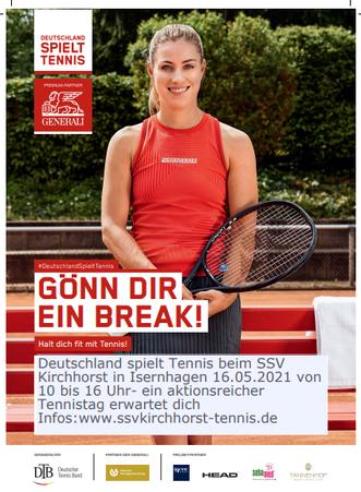 """Tennissparte des SSV  Kirchhorst in Isernhagen macht mit bei """"Deutschland spielt Tennis"""""""