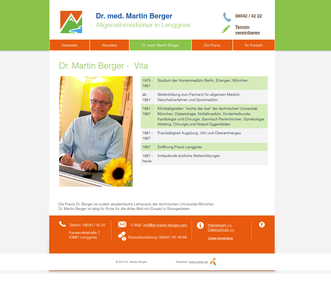 Webseite Dr. med. Martin Berger Lenggries