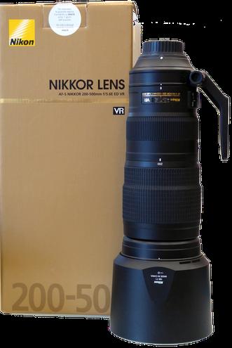 Nikkor  200-500 AF-S VR ED usato sicuro fotografia sardegna