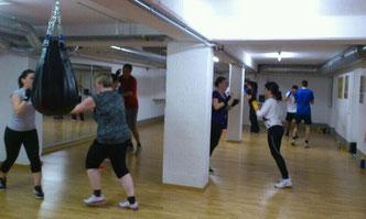 gemischte Gruppe Fitness-Boxen Januar 2015 @ M's-Gym Bern Ittigen