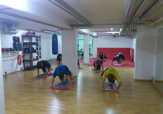 14er-Gruppe Fitness-Boxen, Bauch-Beine-Po-Spezialtraining Juni 2014 @ M's-Gym Bern Ittigen