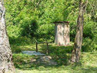 WC hinter Zeltplatz  Zél-puszta Gewässer Revier4