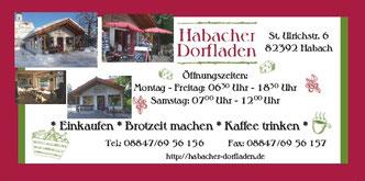 Bilder des Habacher Dorfladens und Kontaktinformationen