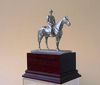 Wounder horse Kincsem with her jockey John Madden, 1887