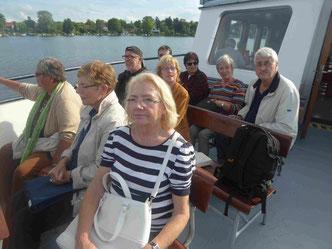Entspannende Rückfahrt mit dem Dampfer nach Potsdam