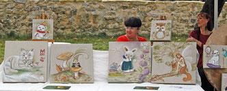 michèle, artiste peintre et un aperçu de ses réalisations