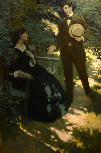 """The Lovers,"" original oil on canvas, by N.C. Wyeth-Click image to enlarge"