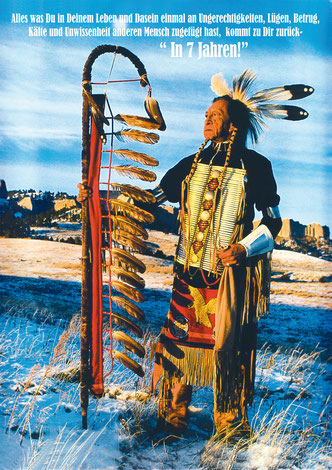 Indianer stehend mit Weisheit  29,7 x 42,0 cm,   10,00 €