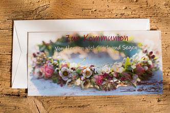 Karten, Postkarten, Kommunion, Erstkommunion, Glückwunschkarten, kindgerechte Sprüche