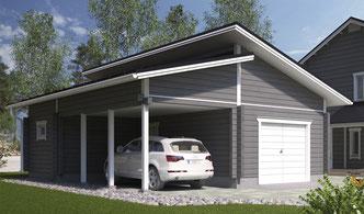 garage bois 2 voitures