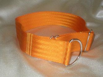 Zugstopp, HAlsband, 4cm, Gurtband goldorange