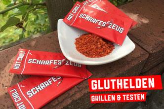 Gluthelden Grillen & Testen  - Scharfes Zeug - Chili im Portionspäckchen