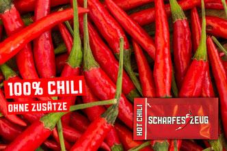 100% Chili ohne Zusätze  - Scharfes Zeug - Chili im Portionspäckchen