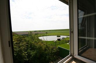 Aussicht aus dem Doppelzimmer Gröde