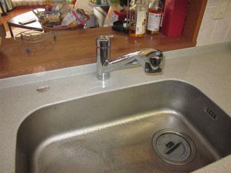 キッチン水栓リフォーム後