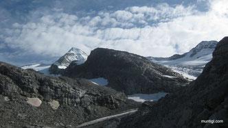 Blick vom Gletscher retour