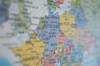 Francfort Allemagne carte