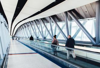 aéroport transfert transit Francfort
