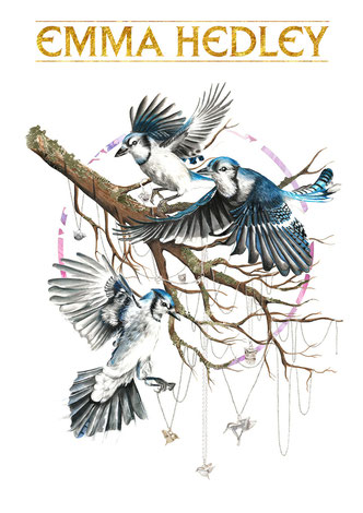 Emma Hedley Jewellery Bird Collection Illustrated by Osseus Design