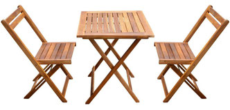 set giardino #acacia #sedie #outdoor #legno #2 #tavolino #due