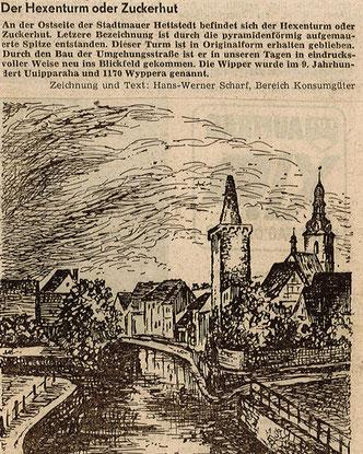 Zeichnung und Text von Hans-Werner Scharf.