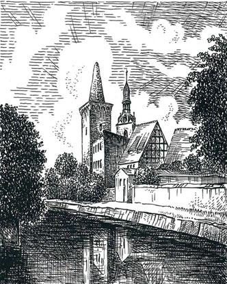 Zuckerhutzeichnung von Hans-Werner Scharf