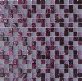 Mosaico foglia lilla