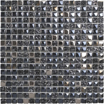 Mosaico Vetro Black