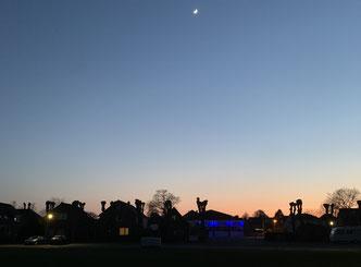 Sonnenuntergang in Lunden