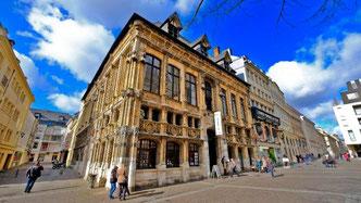 Droguerie, Rouen, Deconihout, rue du gros horloge, gros horloge, décoration, carte postale, vieux marcher