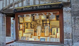 atelier saint romain, reprographie, gravure, rue saint romain, rouen, aquarelle, reprographie, cadre, tableau, encadrement, art, galerie