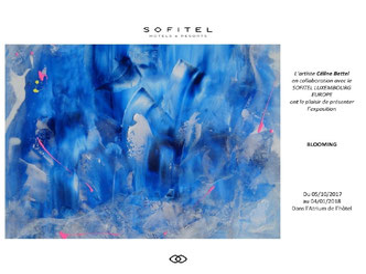 Céline Bettel - Exposition Blooming au Sofitel Europe