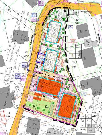 Lageplan Bauprojekt Fehrenberg