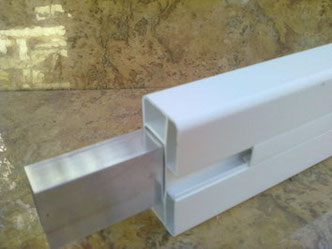 Verstärkung Zaunriegel Kunststoffzaun