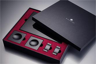 Sushiplatte, Sushiservice von Black-Glass in Geschenkbox