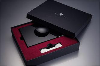 Kaviarschale, Kaviarservice, von Black-Glass in Geschenkbox