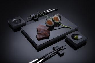 Sushiplatte, sushi-set als Sushi Geschirr