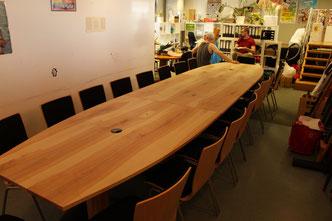 Konferenztisch, dreiteilig, Esche