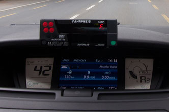 Taxi Lucerne approved taximeter