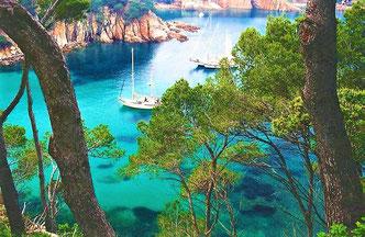 Как жить на Коста Брава, берег средиземного моря, Испания