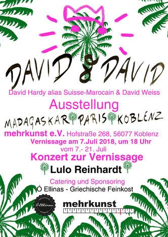 David Hardy und David Weiss bei mehrkunst e.V., 2018