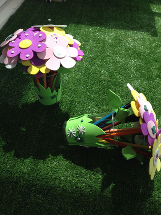 Bouquet de crayons de couleurs