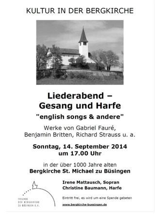 Konzertplakat Büsingen