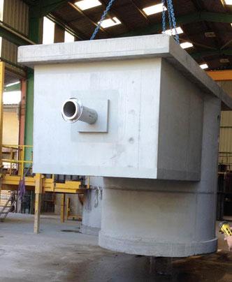 Postes de relevage en béton préfabriqués - Fabrication et moulage Pajot Entreprise