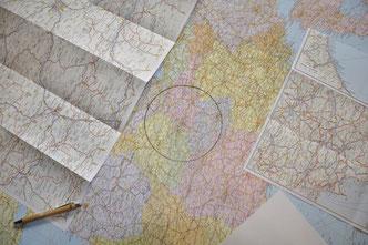 Karte mit Umkreisbestimmung