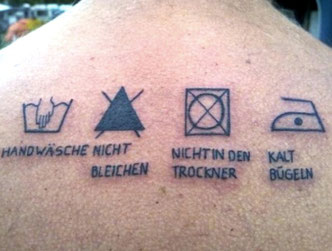 Tattoo Pflegeanleitung